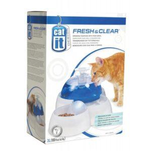 Fontanna wodna HAGEN dla kotów i małych psów z miseczką do żywności