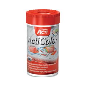 Pokarm dla rybek AQUAEL ACTI ActiColor z dodatkiem suszonej larwy ochotki, krewetki i rozwielitki 46 g