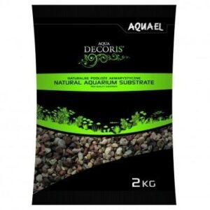 Żwir naturalny wielobarwny AQUAEL Natural Aquarium Substrate 2 kg