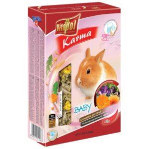 Karma pełnoporcjowa dla młodych królików VITAPOL 400g