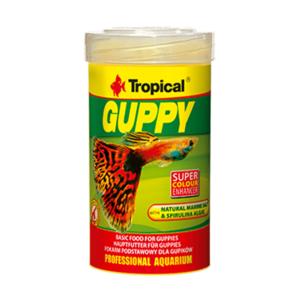 Pokarm dla gupików TROPICAL Guppy 250 ml
