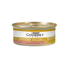 Karma mokra dla kota PURINA GOURMET Gold – łosoś i kurczak w sosie 85g