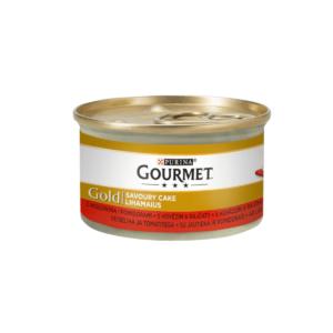 Karma mokra dla kota PURINA GOURMET Gold Savoury  z wołowiną w sosie pomidorowym 85g