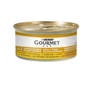 Karma mokra dla kota PURINA GOURMET Gold – kurczak i wątróbka w sosie 85g