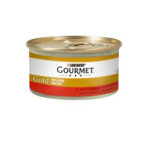 Karma mokra dla kota GOURMET Gold – Mus z wołowiną 85g