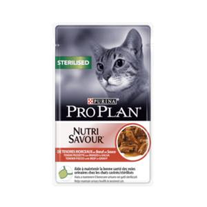 Saszetka dla kota PURINA PRO PLAN Sterilised Nutrisavour z wołowiną 85g