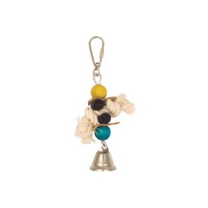 Drewniana zabawka z dzwoneczkiem dla ptaków PANAMA PET