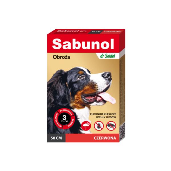 obroża-przeciwpchelna-sabunol-czerwona-dr-seidel-50cm