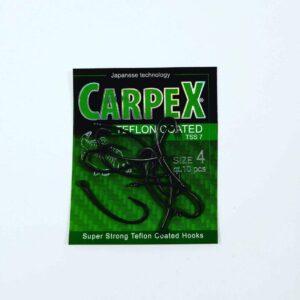 Haczyki CARPEX Teflon Coated TSS7 rozm. 4/10 szt