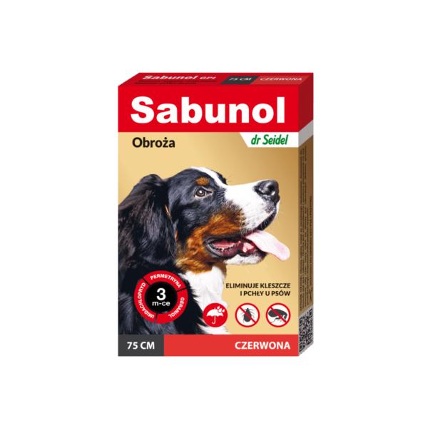sabunol-dr-seidel-obroża-przeciwpchelna75czerwona