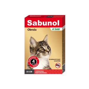 Obroża przeciwpchelna dla kota DR SEIDEL SABUNOL 35cm