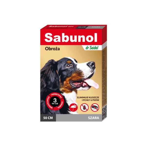 sabunol-obrożaprzeciwpchelna-szara-50cm