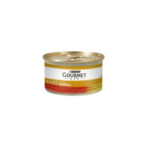 Karma mokra PURINA Gold Z wołowiną i kurczakiem w sosie pomidorowym 85g