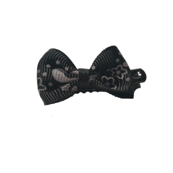 kokardka-na-metalowej-spince-czarno-szaraa-dingo