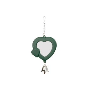 Lusterko dla papugi z dzwoneczkiem TRIXIE Ciemno-zielone