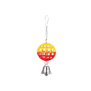 Zabawka dla ptaków TRIXIE Piłka z dzwoneczkiem żółto-czerwone 7 cm