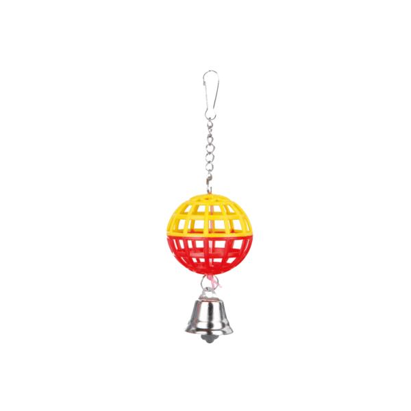 piłka-dzwoneczkiem-dla-ptaków-czerwono-zółta