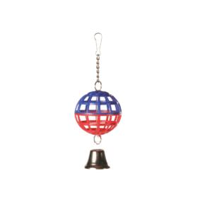 Zabawka dla ptaków TRIXIE Piłka z dzwoneczkiem fioletowo-czerwona 7 cm