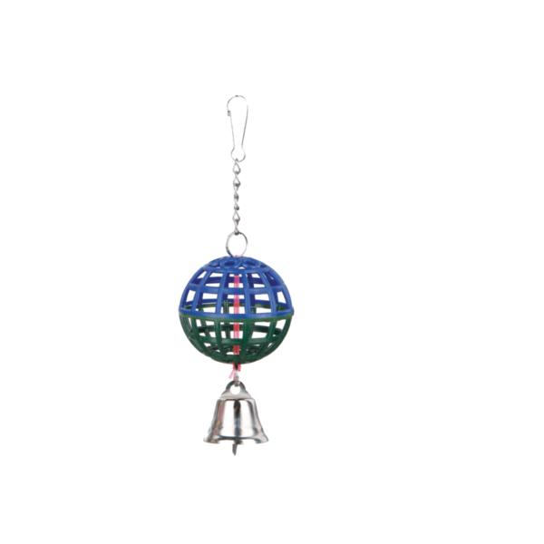 piłka-dzwoneczkiem-dla-ptaków-granatowo-zielona