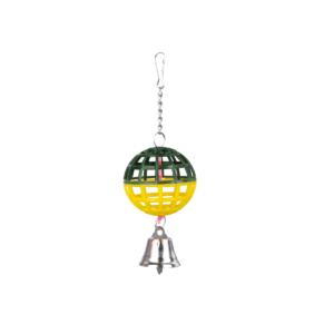 Zabawka dla ptaków TRIXIE Piłka z dzwoneczkiem zielono-żółta 7 cm