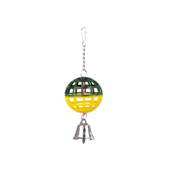 piłka-dzwoneczkiem-dla-ptaków-zielono-zółta