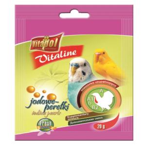 Witaminki dla papużki falistej i kanarka VITAPOL Jodowe perełki 20 g